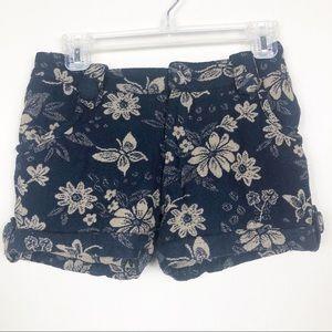 See by Chloe wool blend floral cuff shorts medium